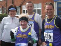 Hardley runners at the Totton 10K
