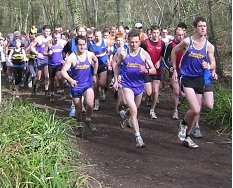 Hardley runners at the front in the Manor Farm CC6